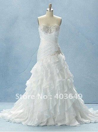 Chiffin designer beaded real sample wedding dress s0016 in for Designer sample wedding dresses