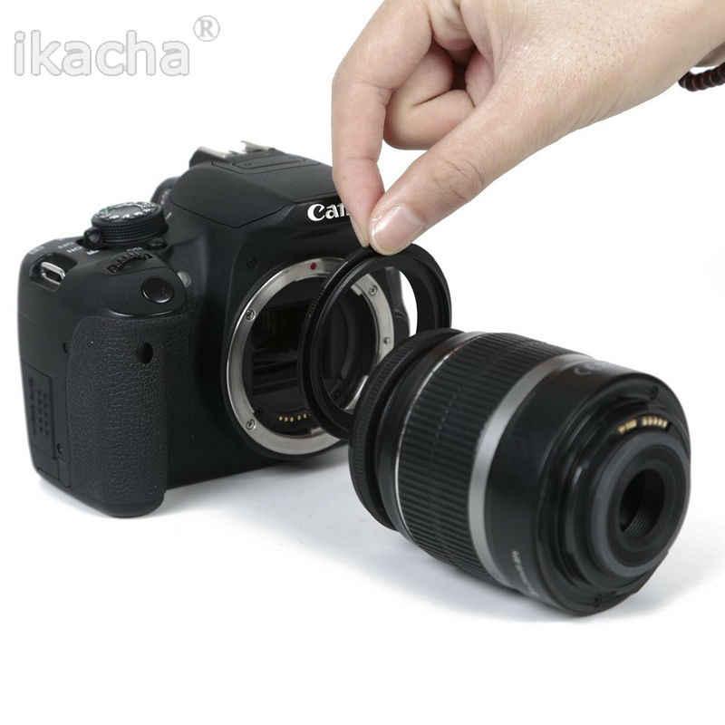 Nuevo anillo adaptador de cámara de lente inversa Macro 67mm para CANON EOS-67 montura EF para 550d 650d 60d EF35 f2 EF50 f1.8II 50 f2.