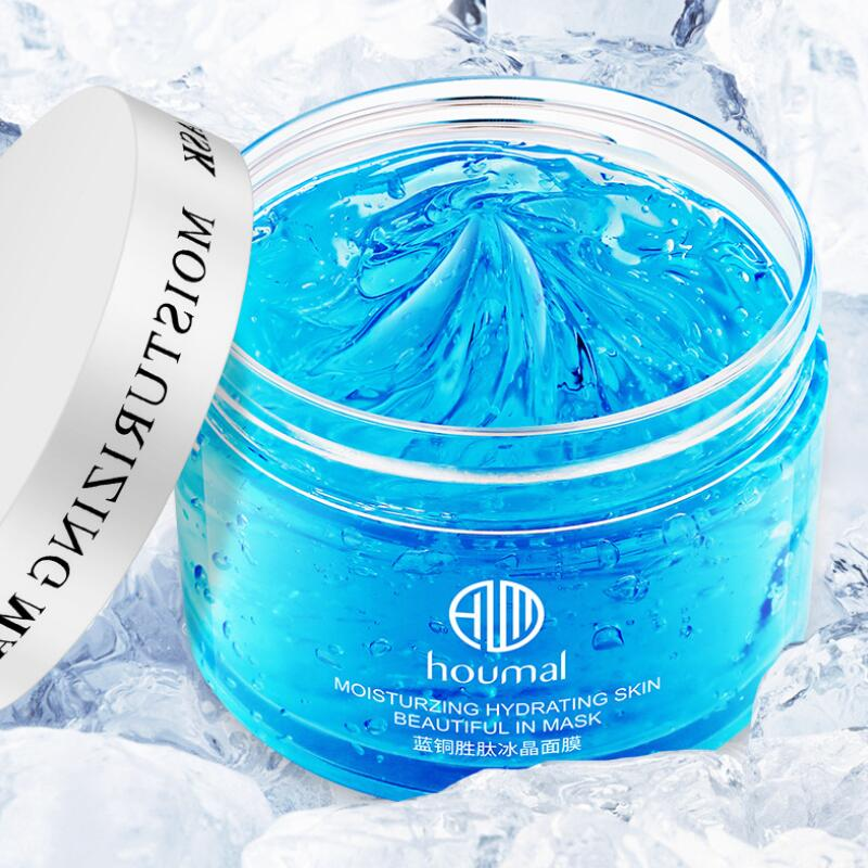 Mask for the Face Skin Care Blue Copper Peptide Hydration Face Mask Ice Crystals Shrink Pores Moisturizing