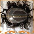 Мужские волосы частей базы 8*10 дюймов польностью швейцарский шнурок невидимый узел прямая волна 100% Индийские волосы мужские парики парик выглядит очень природных