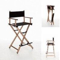 Cadeira de dobramento interna da composição da cadeira do diretor de pouco peso e portátil quadro de alumínio da cadeira com lona preta