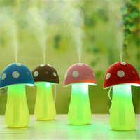 Mini Mushroom Lamp Humidifier Portable USB Air Humidifier Purifier Water Bottle With Led Night Light For