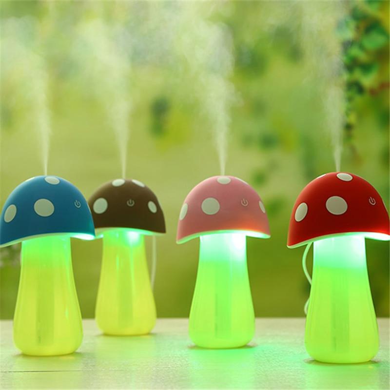 Mini Mushroom font b Lamp b font Humidifier Portable USB Air Humidifier Purifier Water Bottle with