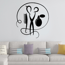 Fashionable Barber shop Home Decor Vinyl Wall Stickers Living Room Bedroom Removable Mural