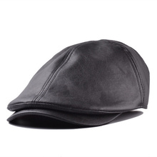 Wholesale 2015 New Spring Or Winter Newsboy Caps For Women Plaid Leather Classic Cap Hats For Men