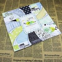 DIY Scrapbook Paper Set Background Craft Decoration Pad Words Beautiful Pattern Design 12inch