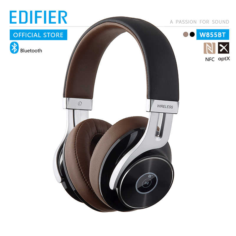 EDIFIER W855BT zestaw słuchawkowy Bluetooth Bluetooth NFC parowanie i obsługa aptX wygodne i staje w sytuacji sam na sam nausznych elementów sterujących i obsługa połączeń bezprzewodowe słuchawki