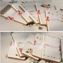 48pcs Floral Dots Rose Printed Bookmarks Party Gift Paper Cards China