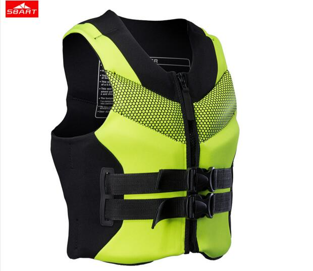 SBART professional neoprene thick life jackets yacht speedboat swimming water floating surfing snorkeling fishing Portable vest sbart upf50 806 xuancai