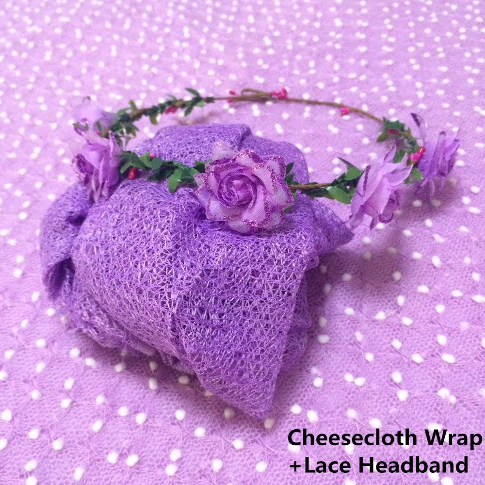 Cheesecloth Wrap+lace headband