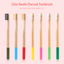 Colorful Bamboo Charcoal Toothbrushes 10 pcs Set