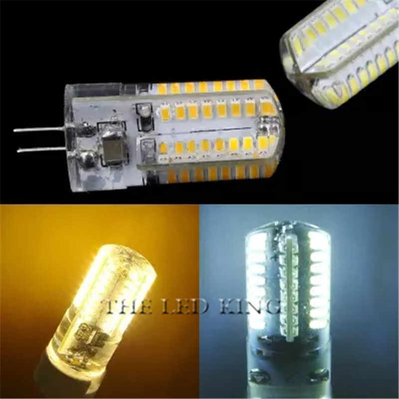 LED Silikon Mini Jagung Bulb AC 220V G4 Hangat/Cahaya Dingin Lampu Gantung Mengganti Lampu Halogen 360 Derajat Kecerahan 5 W 9 W 12 W G4 Cahaya