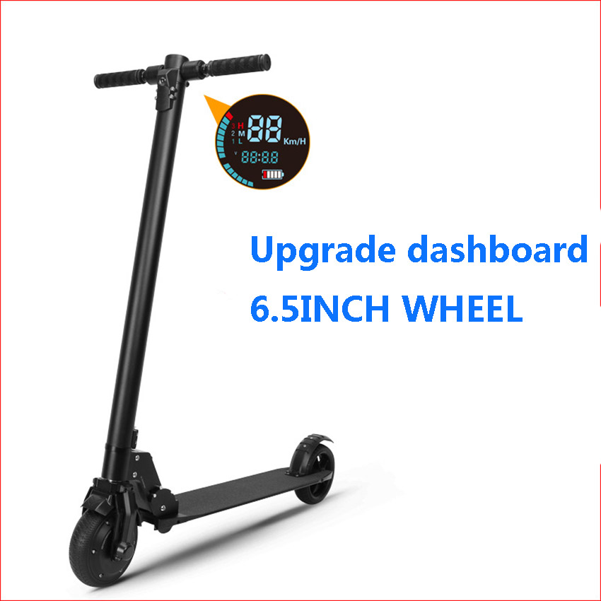300W 36V Portable Electric Scooter Skateboard Kick Scooter Trottinette Foldable AND CCS and USB charger port цена