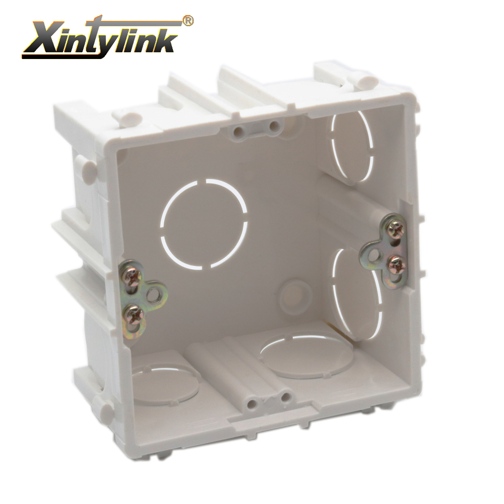 Xintylink Rj11 Rj45 Jack Face Plate Back Box Rj12 Socket Junction External Wiring Embedded Wall Faceplate Flame Retardant Pvc 86mm In Electrical Sockets From Home