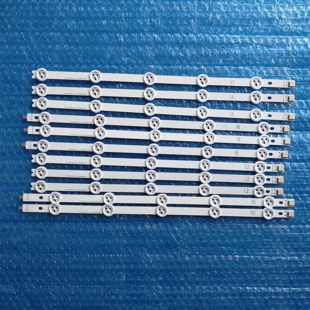 10PCS set New Original LED Strip For LG 42 L1 R1 L2 R2 Type 6916L 1318A