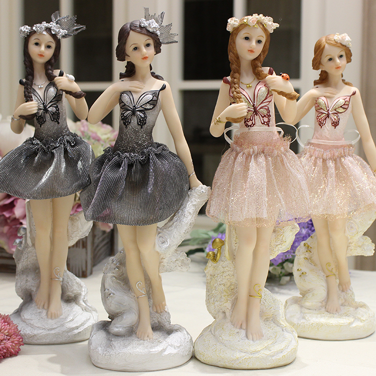 Ballet ladies European Fashion Resin Girl Statue Ballerina Figurine Dancer Woman Figurine Dwelling Wedding ceremony Dance Studio Decor Present Collectible figurines & Miniatures, Low cost Collectible figurines & Miniatures,...