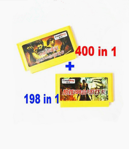 2016 newest 8 bit game cartridge 400 in 1 + 198 in 1 (yellow cart) real games no repeated games