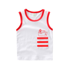 UBELIEF Child Summer set Children's vest Kids Boy Camisole Clothe Baby Boys Solid pockage Waistcoat baby boys Sleeveless blouses