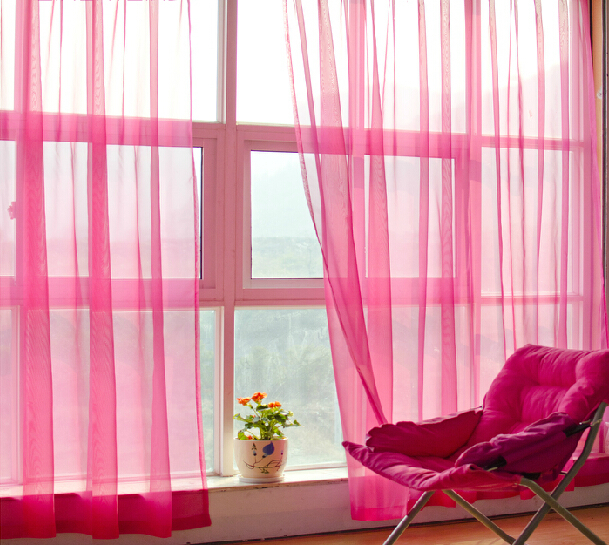 Purple Sheer Curtains Chinese Modern Fancy For Girl Room Living Bedroom