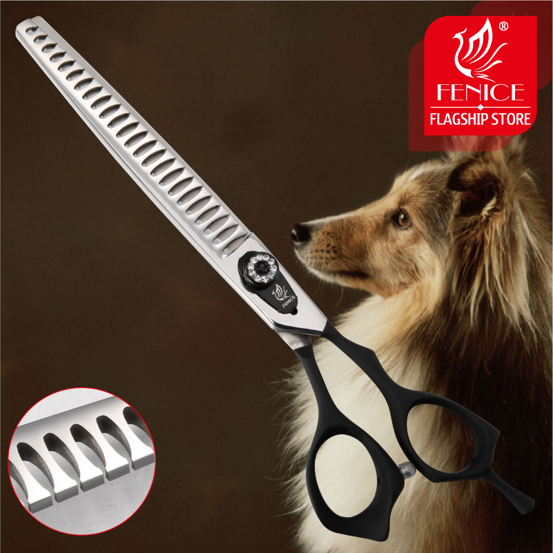 Fenice High Quality Professional 7 5 inch pet grooming scissors for dogs cutting thinner shears scissors