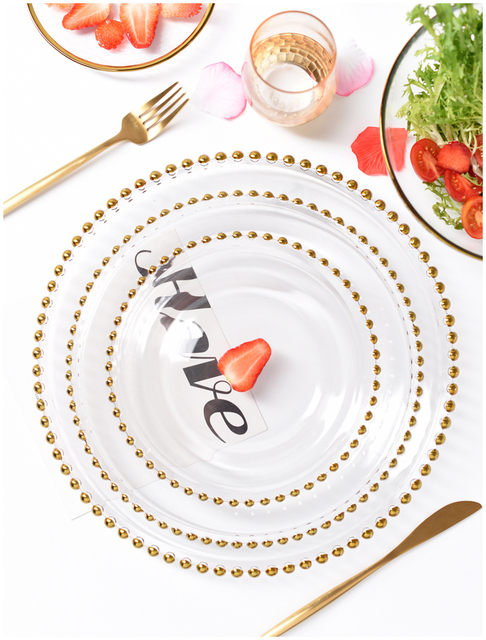 HTB1jynMLmzqK1RjSZFLq6An2XXap.jpg 640x640 - dinnerware - Nordic Gold Bead Glass  Wedding Plates