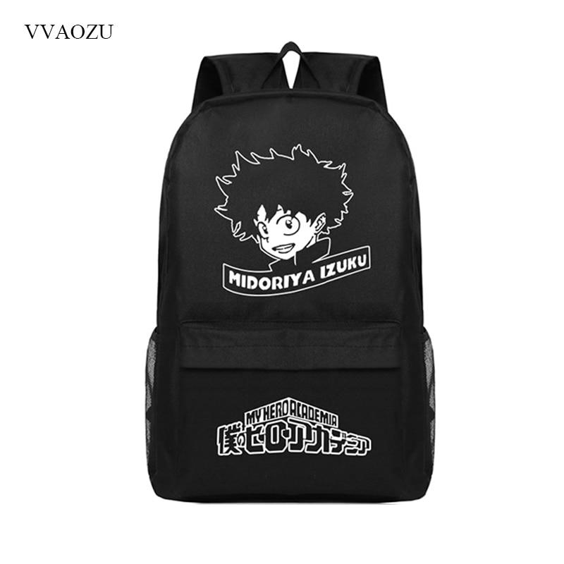 Anime My Hero Academia Boku no Hero Academia Izuku Midoriya Backpack Student School Bags Laptop Rucksack for Teenagers
