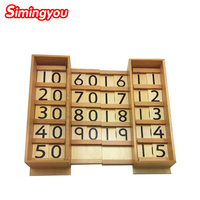 Simingyou Montessori Teens and Tens Boards Wooden Toys Early Childhood Education Preschool Training Baby Toy C20 DropShipping