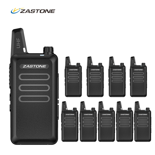 10 قطع ZASTONE X6 المحمولة جهاز مرسل ومستقبل صغير UHF 400 470 ميجا هرتز 3 واط 1500 مللي أمبير 16CH هام يده جهاز الإرسال والاستقبال اللاسلكي التواصل telsiz