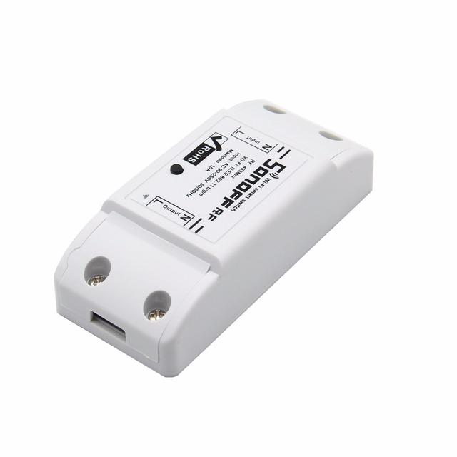 Sonoff Casa Inteligente Módulo de Interruptor de Control Remoto Inalámbrico Universal Temporizador Interruptor Wifi Receptor Controlador de Casa Inteligente con 433 MHz