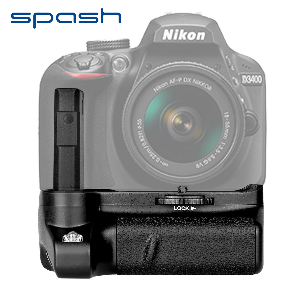 Spash multi-power pionowy uchwyt baterii do lustrzanki cyfrowe Nikon D3400 uchwyt na baterię opakowanie zacisku praca z EN-EL14