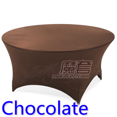 Chocolate Color Spandex Table Cover Round Lycra Stretch Table Cloth