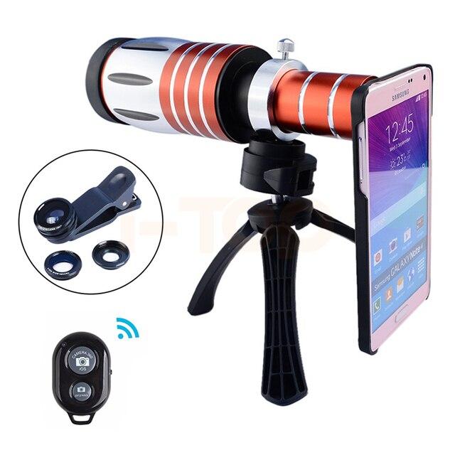 2017 lentes zoom telefoto para iphone 7 6 50x de metal 6 s mais 5 5S se 4 4S samsung lentes olho de peixe grande angular macro lente da câmera kit
