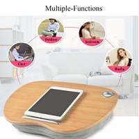 Multifunction Lapdesks Laptop Tray Stand Pillow Knee Wooden Table Bed Holder Portable Laptop Desk for Notebook Outdoor Headrest