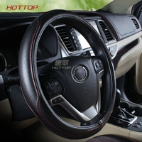 Leather Car Steering Wheel Cover for Toyota Highlander Toyota Camry 2009 2018 car styling