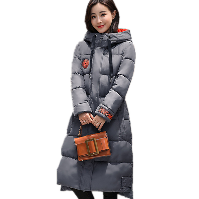 Cotton Padded Fashion Hooded Large Size Thick Jacket Women Solid Color Warm Parka Winter Coat Women Manteau Femme TT3423 women s winter jacket hooded thick warm parkas cartton solid high quality cotton coat manteau femme hiver plus size l 4xl dj29