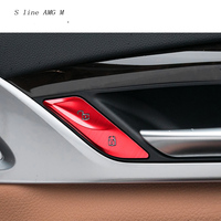 Car Styling Car Door Unlock Switch Button Cover Trim Handle Key Stickers For BMW 5 Series