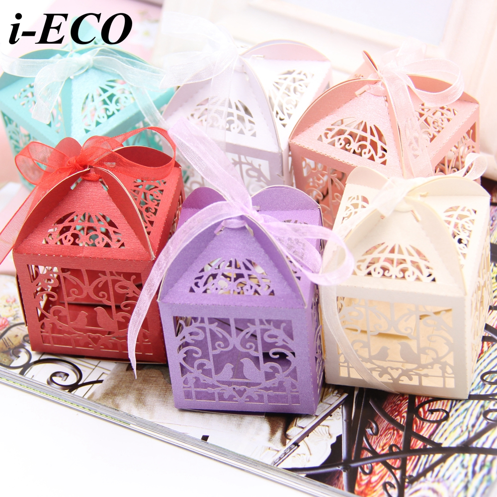 25PCS Hollow Birds Candy Box Wedding Favors Paper Gift Box DIY ...