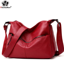 Luxury Handbags Women Shoulder Bag Large Tote Bags Hobo Soft Leather Ladies Crossbody Messenger Bag for Women 2019 Sac A Main genuine leather women bag fashion large crossbody bags for women shoulder bag luxury female tote bucket bags handbags sac a main