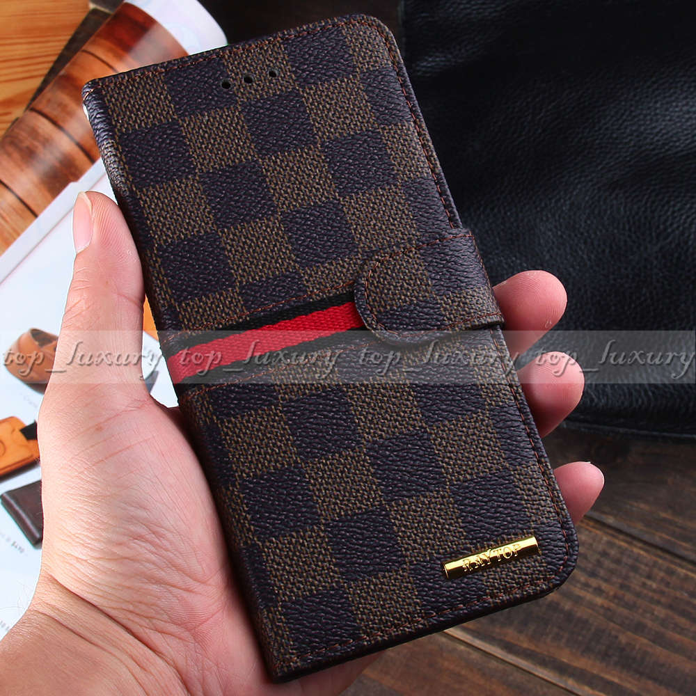 new styles e49cc 946d0 US $9.99 |Luxury Designer Plaid Leather Wallet Cases for Apple iPhone 6  Plus 5.5