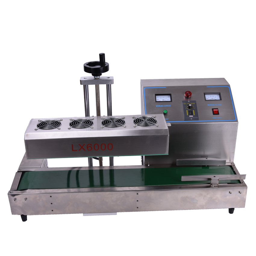 LX6000 Desktop stainless steel Continuous Induction Sealer,Electromagnetic induction sealing machine,suit for 15-80mm diameter