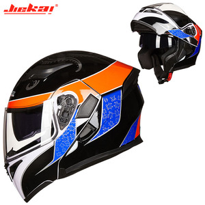 Image 3 - Kış DOT JIEKAI JK902 motosiklet kask çift Lens motosiklet MOTO Motocross kaskları siyah beyaz kırmızı M L XL XXL
