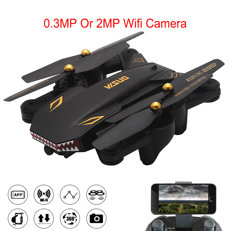 Xs809W Upgraded Version Drone XS809S Shark Foldable Selfie RC Helicopter With Camera Altitude Hold FPV WiFi Quadcopter Toys xs809w refit models xs809 shark foldable selfie rc drone with camera altitude hold fpv quadcopter wifi app control rc helicopter