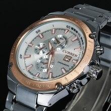 2016 Watches men luxury brand CURREN quartz watch men full steel wristwatches dive 30m Fashion sport watch relogio masculino