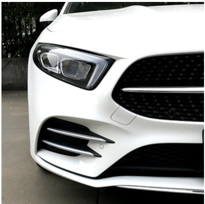4 Pcs/lot Plastic ABS Chrome Stickers Trim Cover for Mercedes Benz A Class W177 A180 A200 Sports Line Accessories Car Styling
