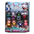 New Arrival 8PCS/SET Cartoon Movie Sing Action Figure Toys 3-4'' Buster Moon Johnny Dolls