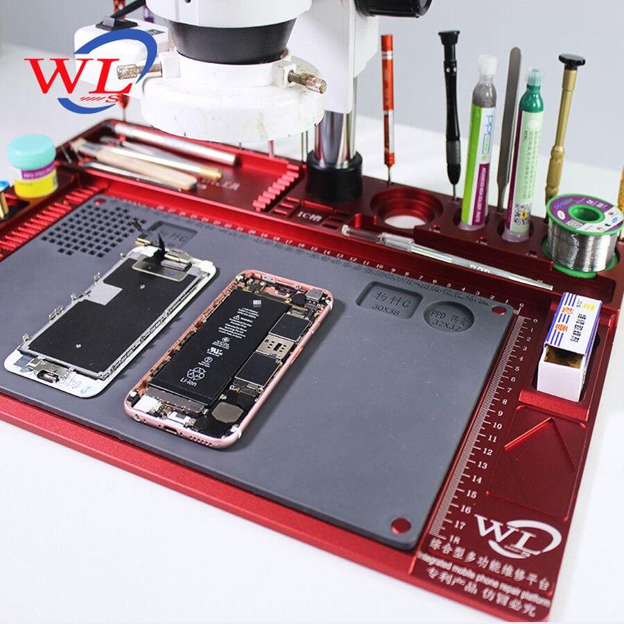 35x25 cm Calor Mat Isolamento Pad Silicone Seção Mesa de Trabalho Plataforma de Manutenção Com Magnético Para Solda BGA Vendidos reparação