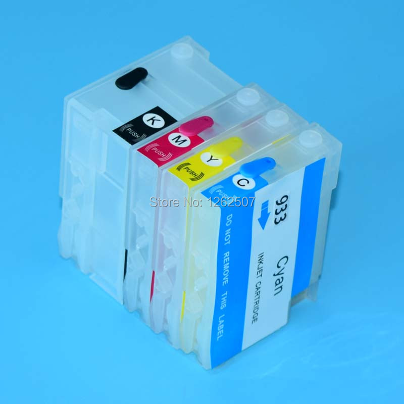 Refill cartridges 2sets + pigment ink 1sets for hp932 933 with arc chip For HP 7610 7110 6100 6600 6700 free shipping ! free shipping for hp 932 933 refillable ink cartridge with ink with permanent chips for hp officejet 6600 6700 ink jet printer