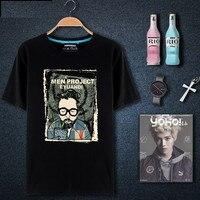 Cool Printed T Shirt Man Black Cotton O Neck 100 Combed Cotton White Male Fashion 2017