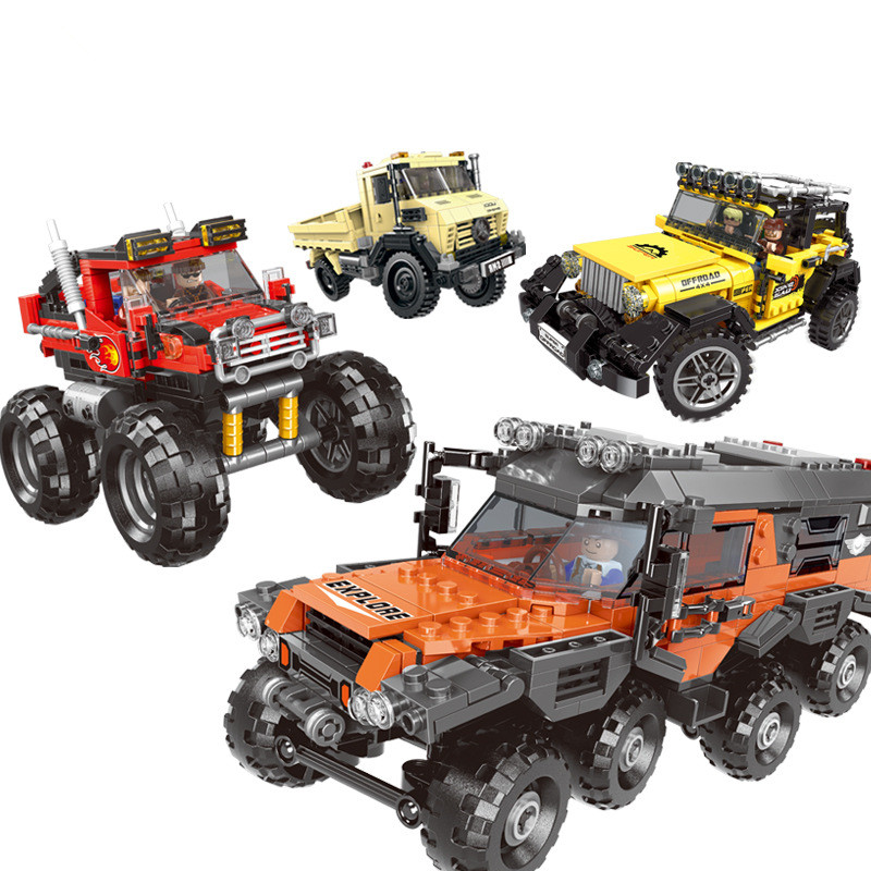 Xingbao Offroad Adventure Set Building Blocks Car Model Bricks Toys For Kids Educational Gifts Compatible with Legoed