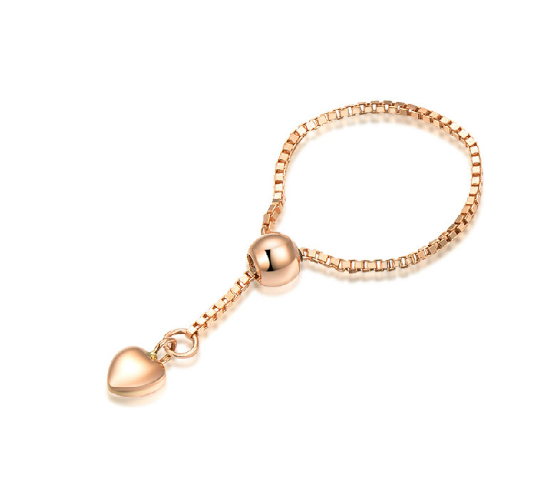 Italien design Gelbgold Box Kettenglied Ring